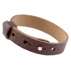 Cuoio armbanden leer 15 mm voor 20 mm cabochon Fudge brown