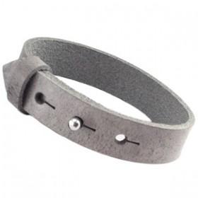 Cuoio armbanden leer 15 mm voor 20 mm cabochon Graphite grijs