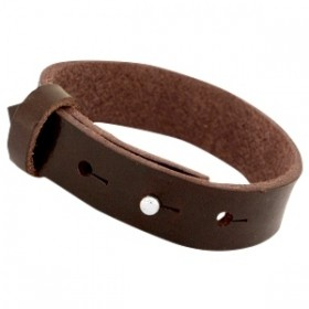 Cuoio armbanden leer 15 mm voor 20 mm cabochon Dark brown