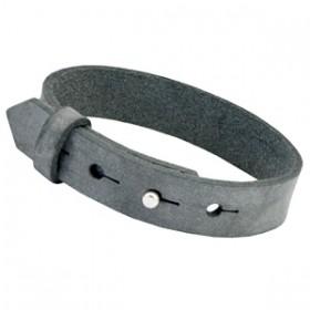 Cuoio armbanden leer 15 mm large voor 20 mm cabochon Antracita zwart