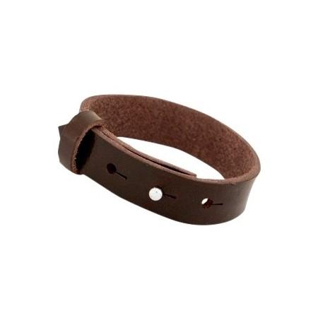 Cuoio armbanden leer Reptile 15 mm voor 20 mm cabochon Smoke cognac brown