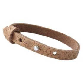 Cuoio armbanden reptile leer 8 mm voor 12 mm cabochon Light cognac brown