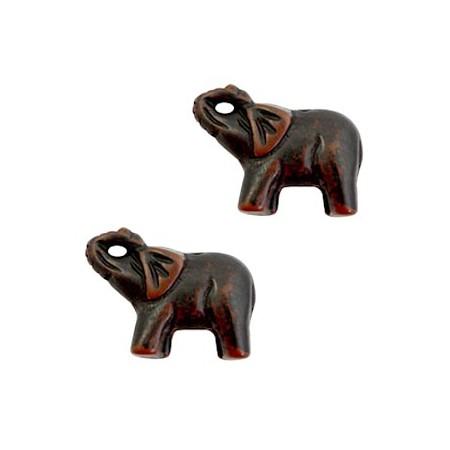 DQ acryl kraal olifant Dark brown-black