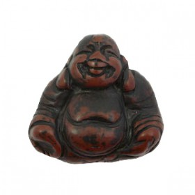 DQ acryl kraal Buddha Dark brown-black