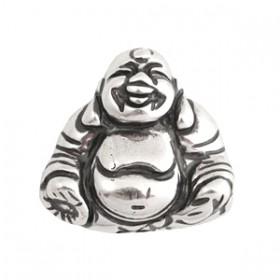 DQ acryl kraal metallook Buddha zilver