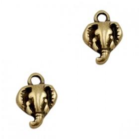 DQ bedeltje olifant Antiek brons
