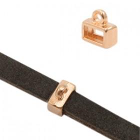 DQ metaal Schuiver met oog Rose goud (nikkelvrij)