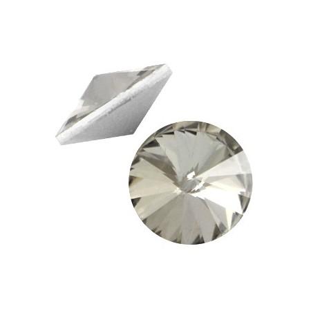 LC rivoli puntstenen 1122 - 12 mm Crystal Black diamond