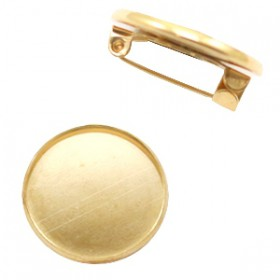 Metalen broche voor 12mm cabochon Goud