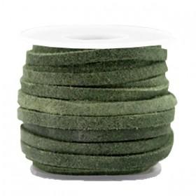 DQ Suède plat 3mm Salvia green
