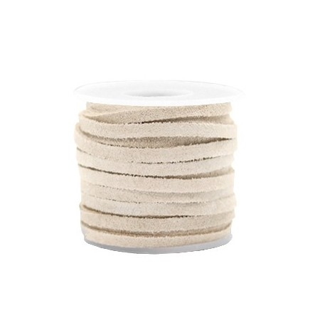 DQ Suède plat 3mm Sand brown