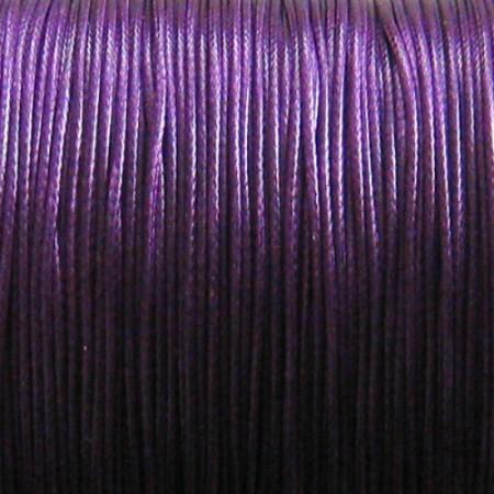 Nylon waxkoord 0.5mm fel paars