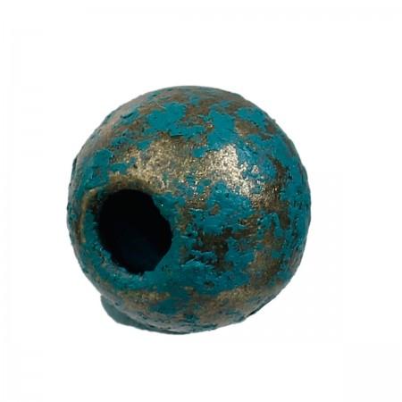 Metalen kraal 6mm Brons Patina