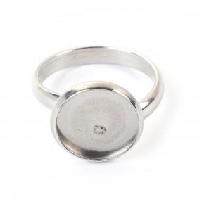Roestvrij stalen (RVS) Stainless steel ringen voor 10mm Cabochon