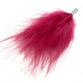 Pluche veer 8cm Cherish pink