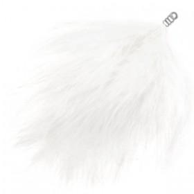 Pluche veer 8cm White