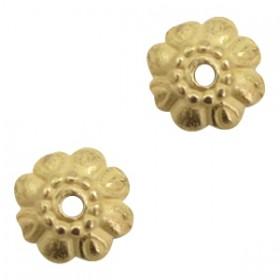 TQ metalen kralenkapje bloem voor 8mm kraal Antiek brons