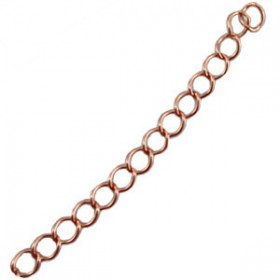 DQ metaal verlengketting Rose gold zware plating