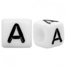 Acryl letterkraal vierkant A