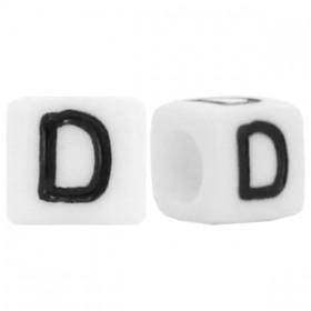 Acryl letterkraal vierkant D