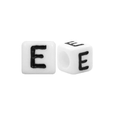 Acryl letterkraal vierkant E