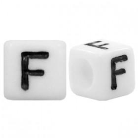 Acryl letterkraal vierkant F