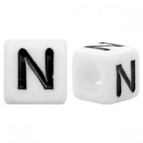 Acryl letterkraal vierkant N