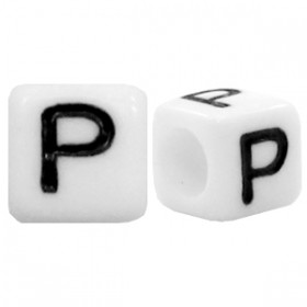 Acryl letterkraal vierkant P
