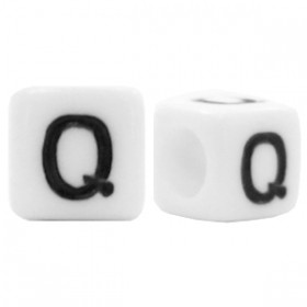 Acryl letterkraal vierkant Q
