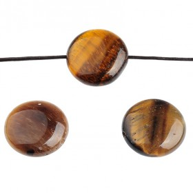 Tiger Eye rond 16mm Yellow