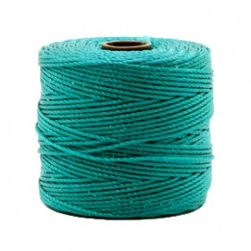Nylon S-Lon draad 0.6mm Teal green