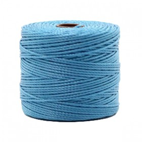 Nylon S-Lon draad 0.6mm Caroline blue
