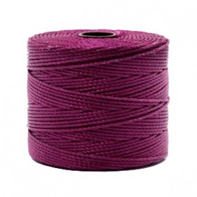 Nylon S-Lon draad 0.6mm Wineberry red