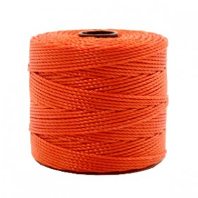Nylon S-Lon draad 0.6mm Dusty red-orange