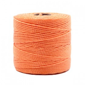 Nylon S-Lon draad 0.6mm Peach orange