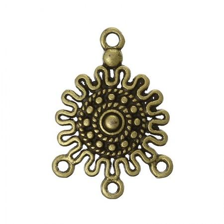 Connector antiek brons (1-3)