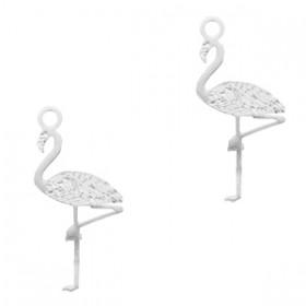 Bohemian hanger flamingo Zilver