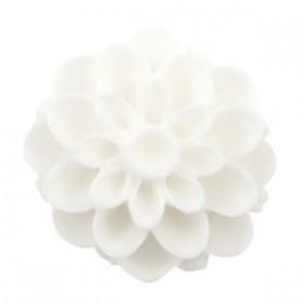 Dahlia bloem kralen 14mm matt Wit
