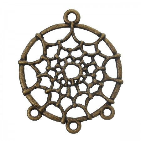 Connector Dream Catcher  antiek bronskleur