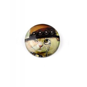 25mm cabochon steampunk print light cat