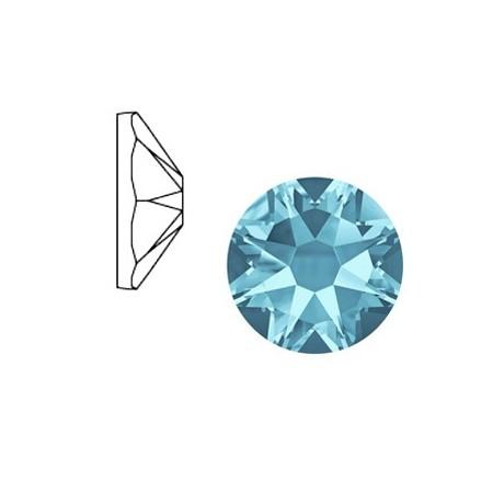 Swarovski Elements 2088-SS34 flatback Xirius Rose Aquamarine blue