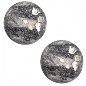 12mm cabochon classic Polaris Rockstar Cream white-grey
