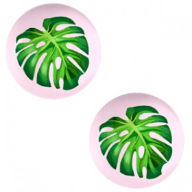 Basic cabochon 12mm Tropical palm leaf-palace rose