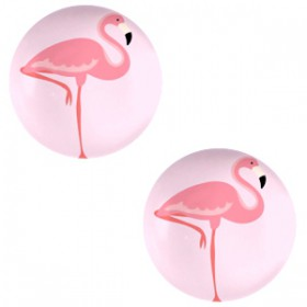 Basic cabochon 20mm Flamingo-pink