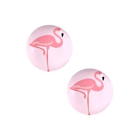 Basic cabochon 20mm Flamingo-pink