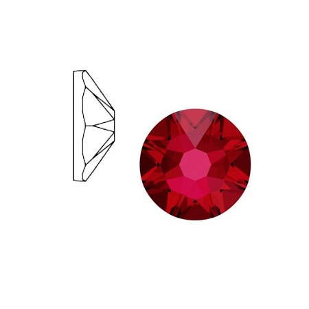 Swarovski Elements 2088-SS34 flatback Xirius Rose Scarlet red
