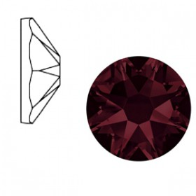 Swarovski Elements 2088-SS34 flatback Xirius Rose Burgundy red