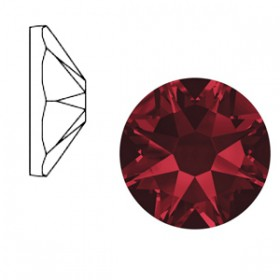 Swarovski Elements 2088-SS34 flatback Xirius Rose Siam red