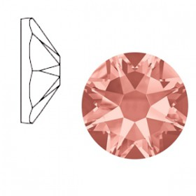 Swarovski Elements 2088-SS34 flatback Xirius Rose Rose peach