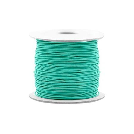 Gekleurde elastische draad 0.8mm Turquoise green